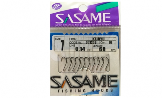 Крючки SASAME 1206 Keiryu на повідках