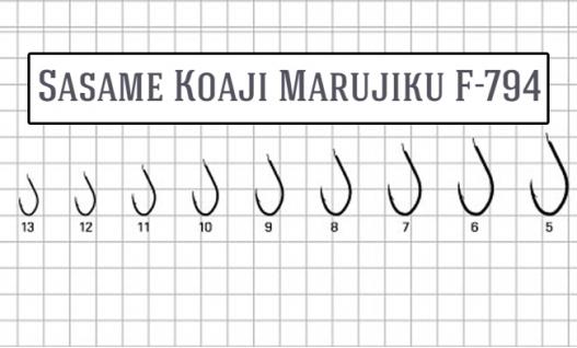 Крючки Sasame Koaji Marujiku F-794