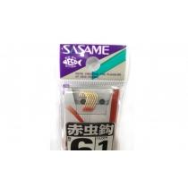 Крючки SASAME A-405 на поводках #5