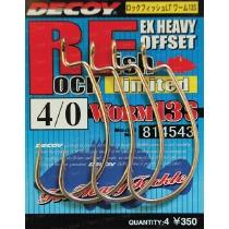 Крючки Decoy Worm13S Offset Limited #1