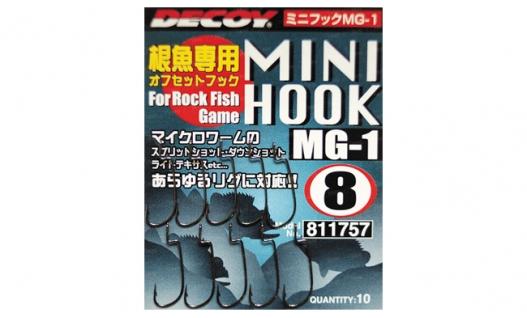Крючки офсетные Decoy Mini Hook MG-1