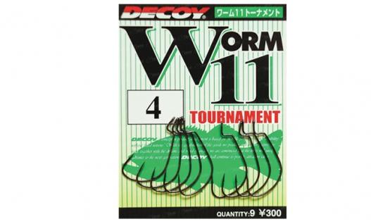 Крючки офсетные Decoy Worm11 Tournament