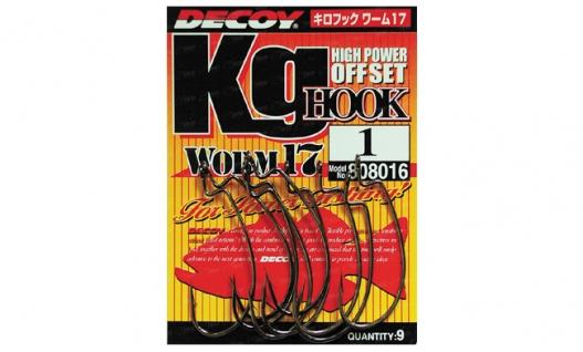 Гачки офсетні Decoy Worm17 Kg Hook