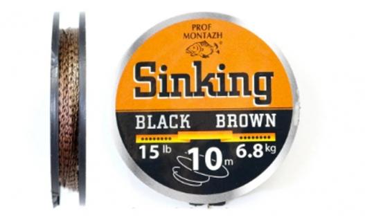 Поводковий матеріал Black Brown 10м.
