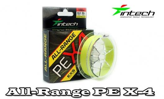 Шнур плетеный Intech All-Range PE X-4