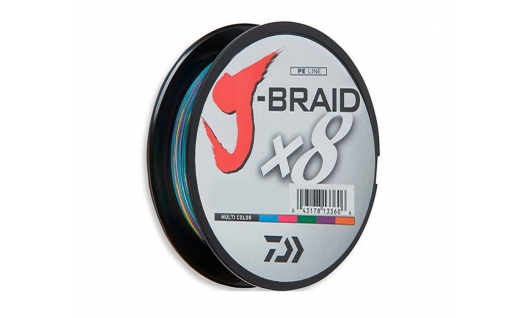 Шнур Daiwa J-Braid x8 Multicolor 150м