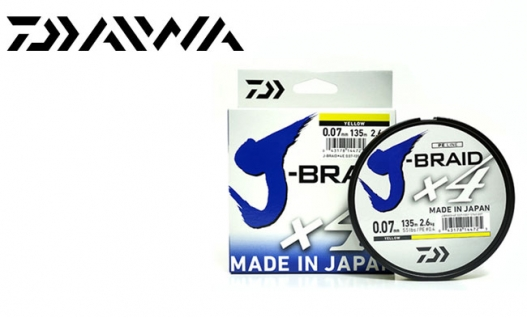 Шнур Daiwa J-Braid X4E Yellow