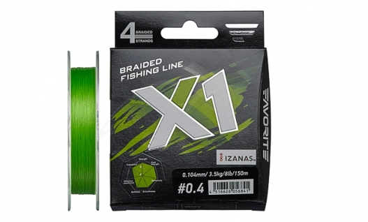 Шнур Favorite X1 PE 4x 150m (l.green)