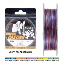 Шнур плетений GOSEN CASTING 8 BRAID MULTICOLOR #0.8