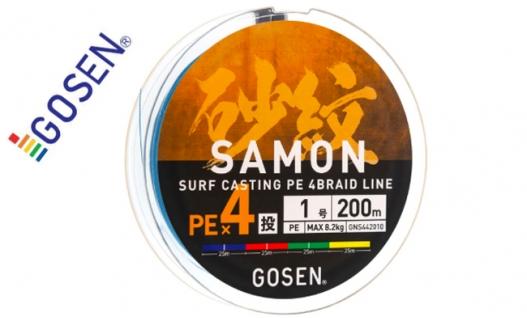 Шнур плетений GOSEN SAMON PE x4 200m