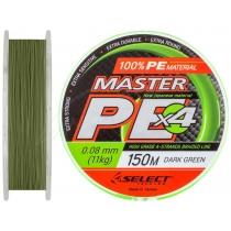Шнур Select Master PE 100m 0.24мм (темно-зеленый)