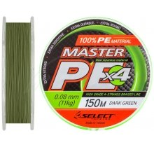 Шнур Select Master PE 100m (темно-зелений)