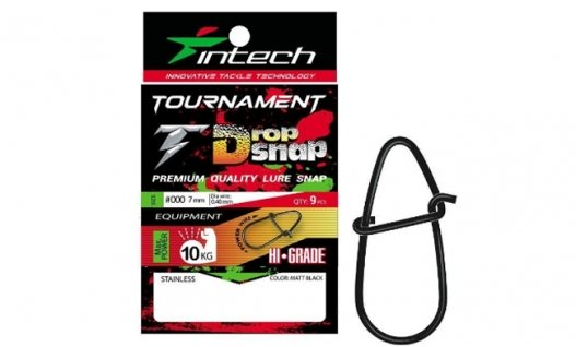 Застежка Intech Tournament Drop Snap Matt Black